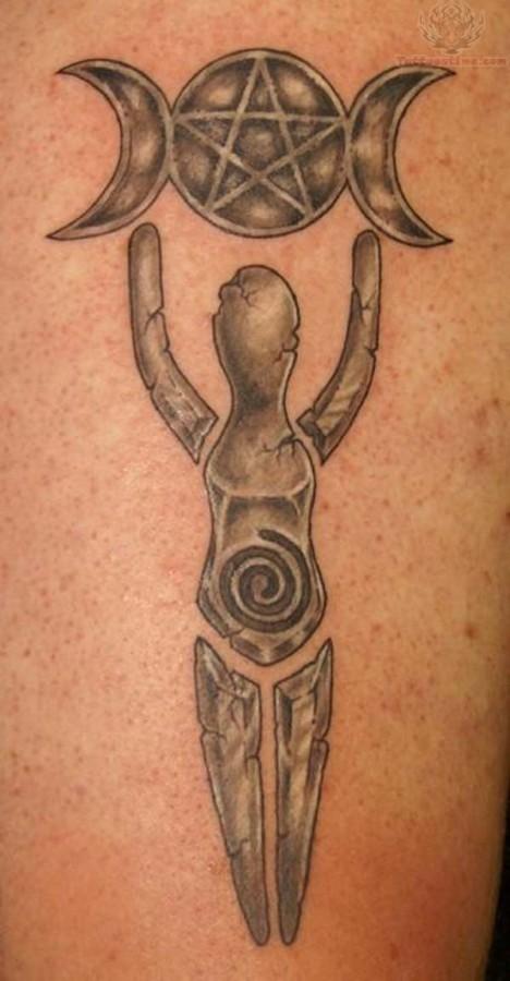 pagan tattoo sun and moon symbols