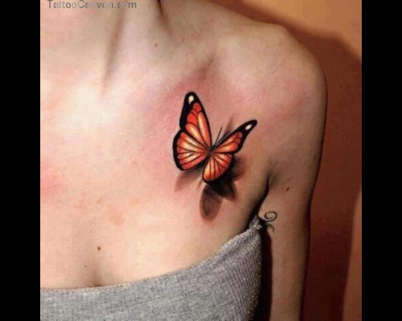 Realistic Tattoo Butterfly Shoulder Tattoo Jpg
