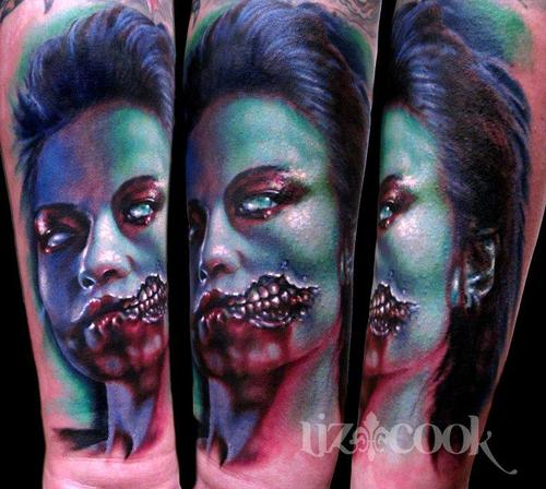 Tattoo Woman Zombie: Tattoo By Mike DeVries Zombie Girl