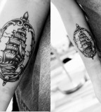 travel tattoo sailing boat picture