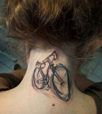 watercolor tattoo design bicycle