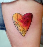watercolor tattoo design heart
