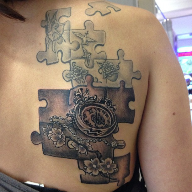Add Up Puzzle Tattoo