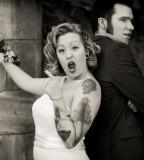 couple tattoo crazy bride