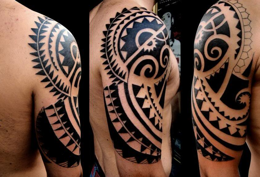 maori tattoo blackwork sun tattoomagz. Black Bedroom Furniture Sets. Home Design Ideas