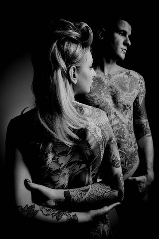 Tattooed Couple Black And White Photography Tattoomagz
