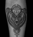 bear tattoo by jean philippe burton