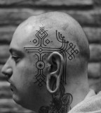head tattoo by jean philippe burton