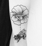 Bees tattoo by Philippe Fernandez