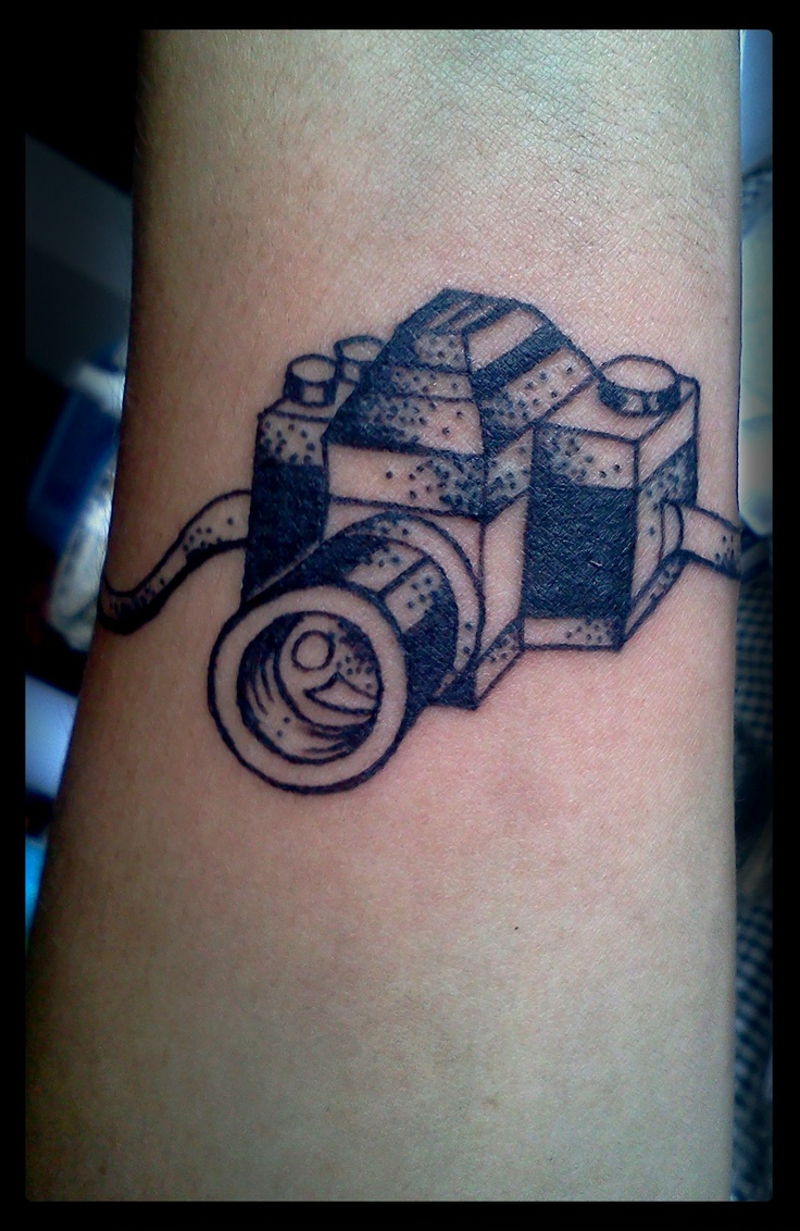 black and white camera tattoo. Black Bedroom Furniture Sets. Home Design Ideas