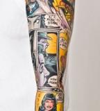 Comic book tattoo