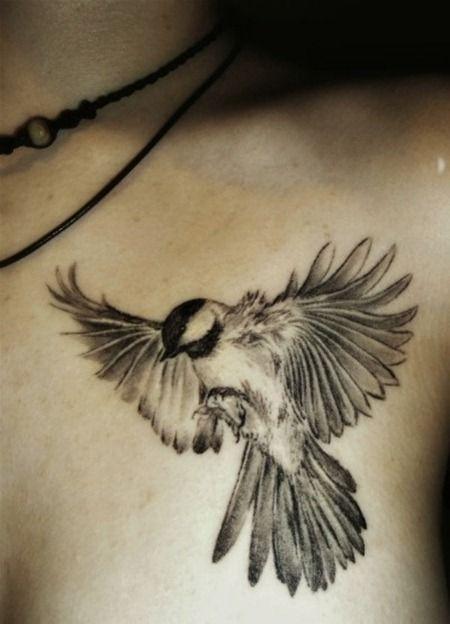 Cool flying bird tattoo - TattooMagz
