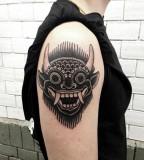 Devil tattoo by Philippe Fernandez