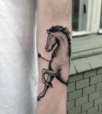 Horse tattoo by Philippe Fernandez