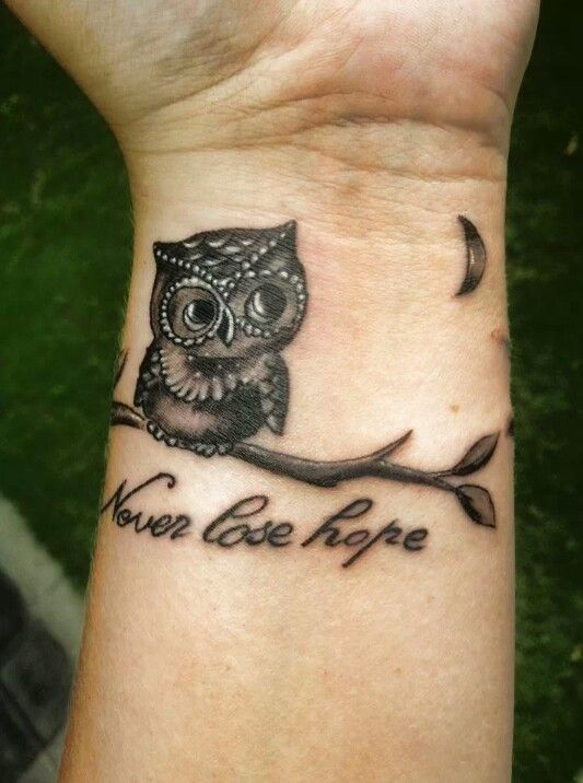 Never Lose Hope Owl Tattoo Tattoomagz