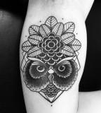 Owl tattoo by Philippe Fernandez