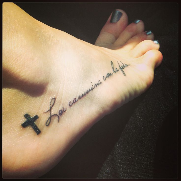 Quite Tattoo On Foot