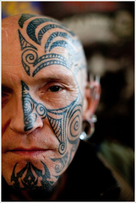 10 Best Facial Tattoo Designs Ever: Unique Face Tattoo Designs For Man
