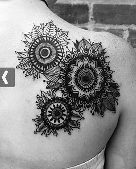 David hale tattoo floral back shoulder piece tattoomagz for Shoulder piece tattoos tumblr