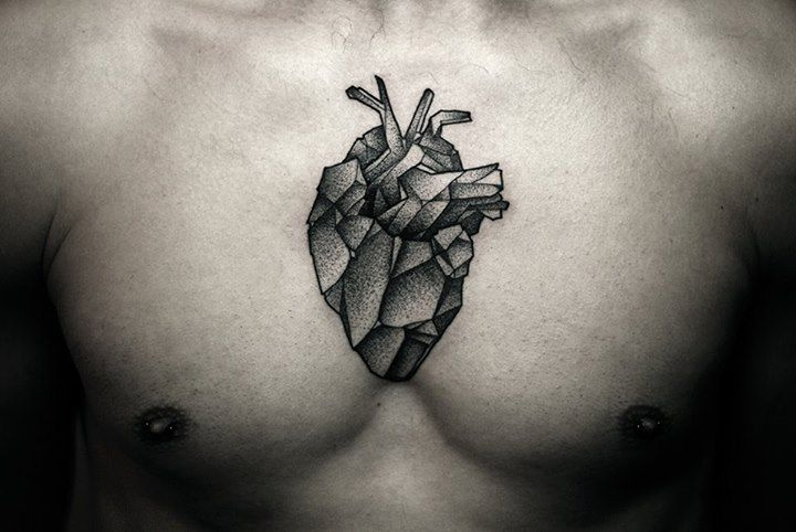http://tattoomagz.com/kamil-czapiga-tattoos/kamil-czapiga-tattoo-geometric-heart-on-chest/