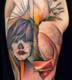 marie kraus tattoo  woman and man