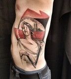marie kraus tattoo woman with flag