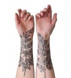 nature tattoo leaves sleeves