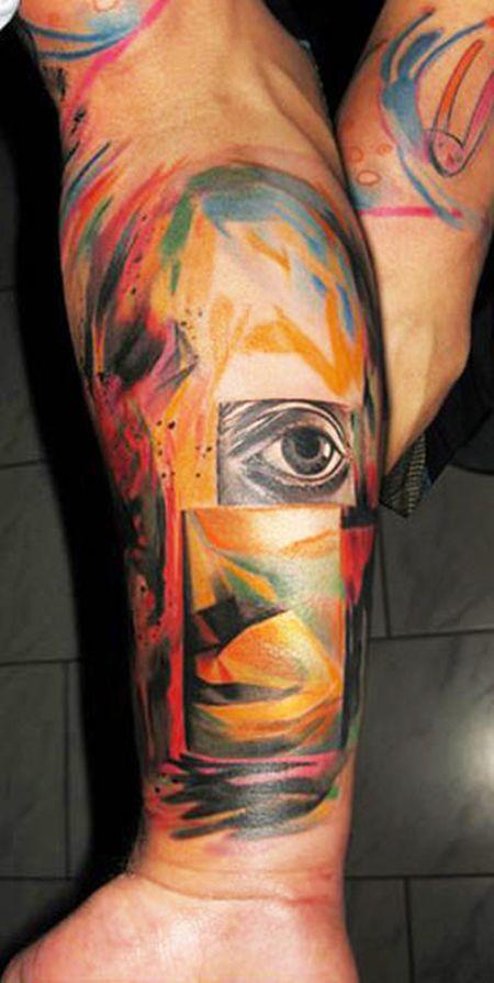 Ondrash tattoo face tattoomagz for Tn tattoo laws
