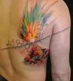 ondrash tattoo molecular explosion