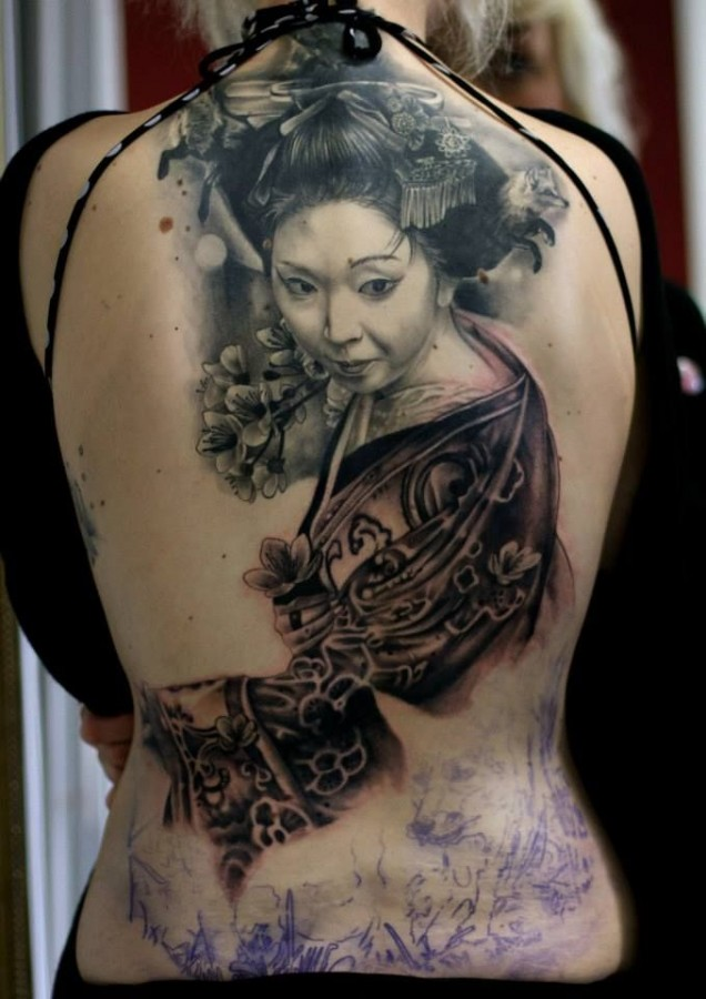 Asian girl tattoos