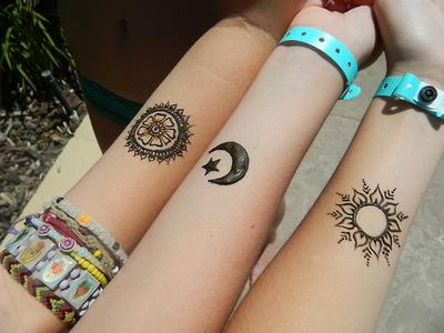 Moon and sun tattoo - TattooMagz