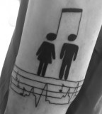 Music and people couples tattoo