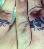 Romantic couples tattoo