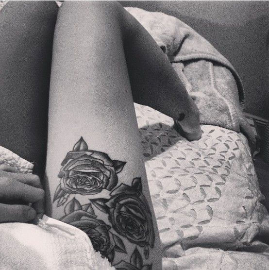 Roses hip tattoo tattoomagz roses hip tattoo urmus Image collections