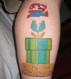 Supermario games tattoo
