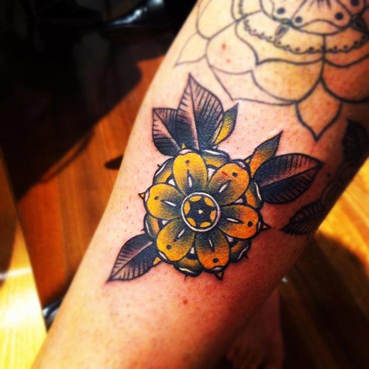 Yellow flower tattoo by pari corbitt tattoomagz yellow flower tattoo by pari corbitt mightylinksfo