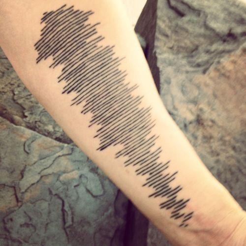Sound Wave Tattoo