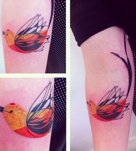 seb inkme cute bird tattoo