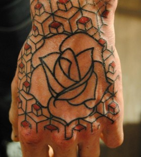 seb inkme rose hand tattoo