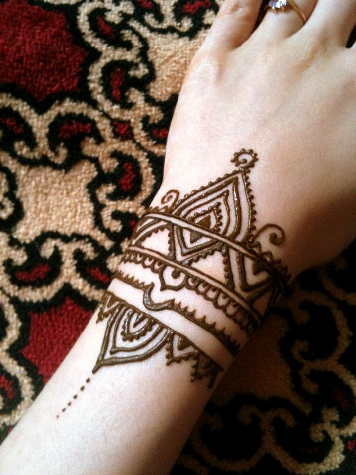 Wrist Henna A Henna Tattoo Creation By Louise A: Wrist Tattoo Henna Style