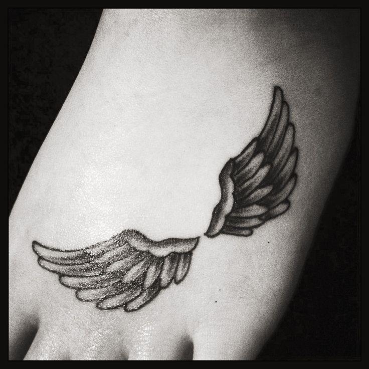 Foot angel wings tattoo tattoomagz foot angel wings tattoo urmus Gallery