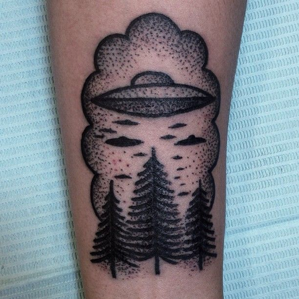 Alien Tattoos: Forest And Alien Tattoo