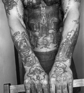 Full body prison tattoos