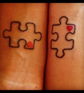 Simple puzzle tattoo
