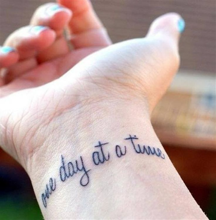 Tattoo Quote One Day At A Time