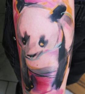 bright color animal tattoos panda