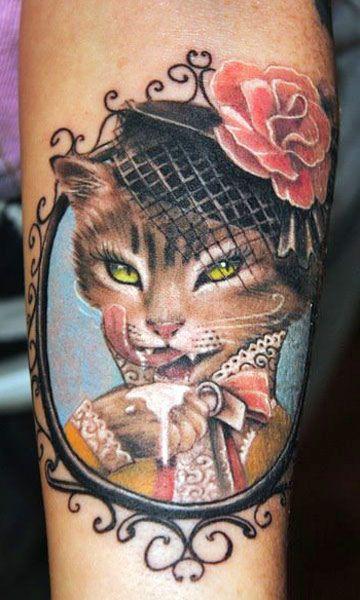 bright color animal tattoos