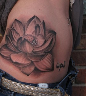 hip tattoo for girl water flower