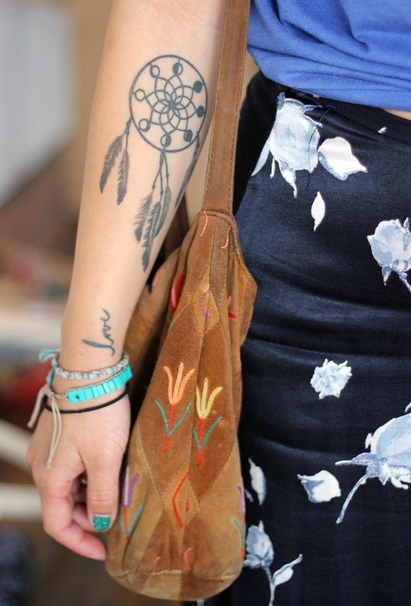 small dreamcatcher tattoo inner hand tattoomagz