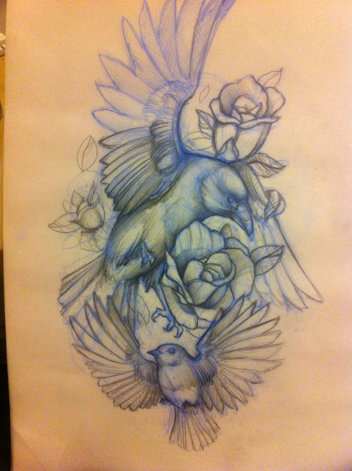 Tattoo Sketching Tattoo Sketch Flying Free